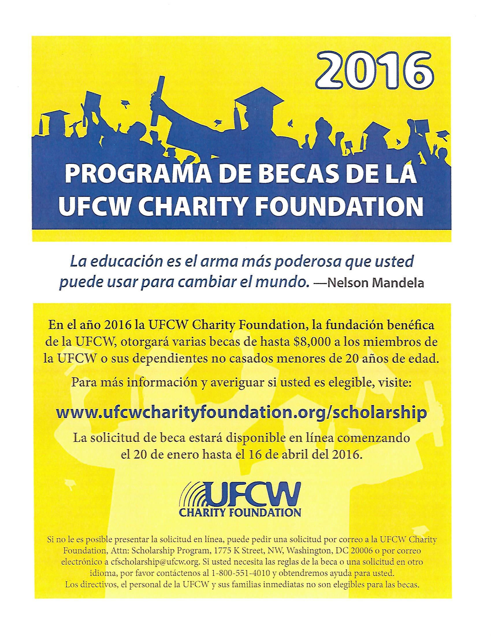 UFCW Charity Foundation Scholarship