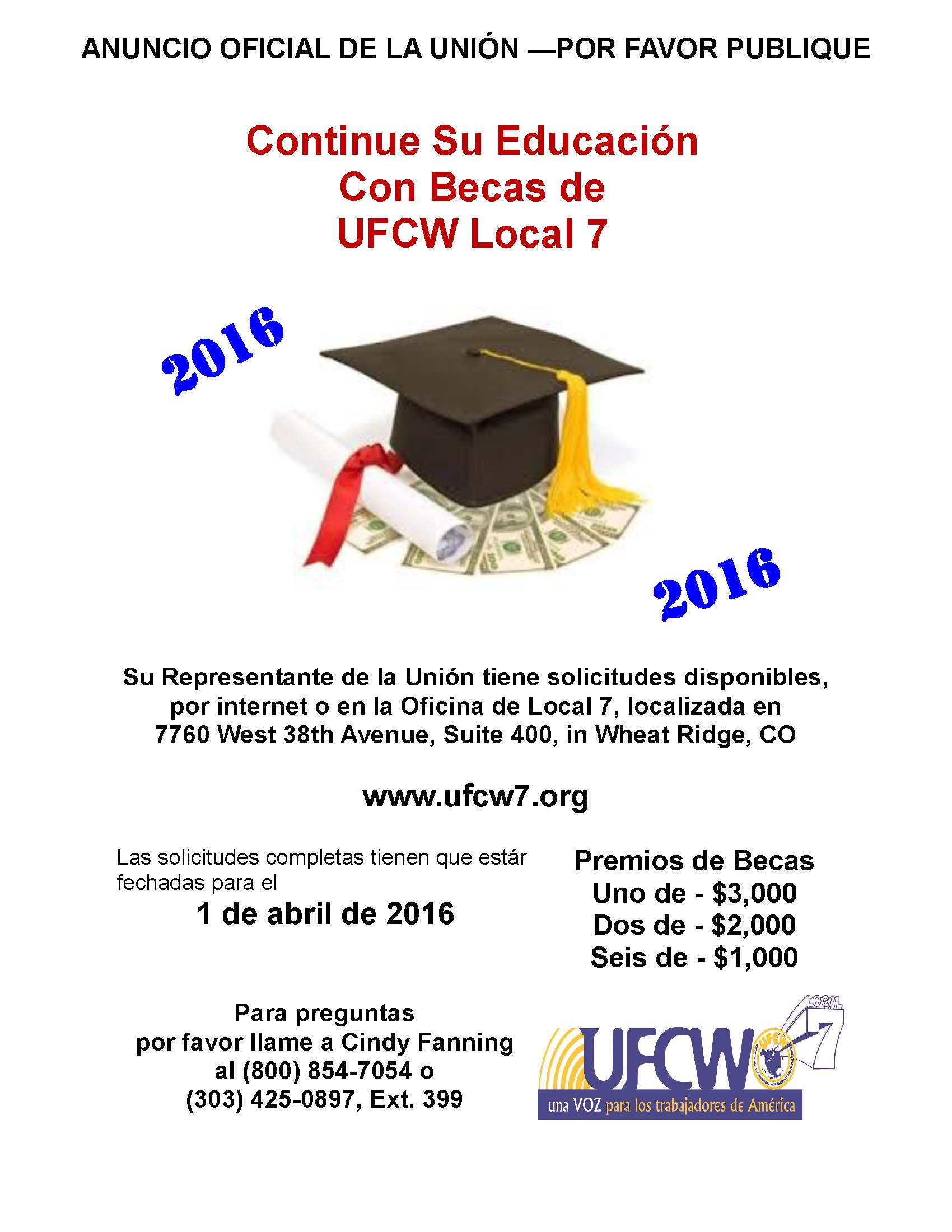 UFCW Local 7 Scholarship