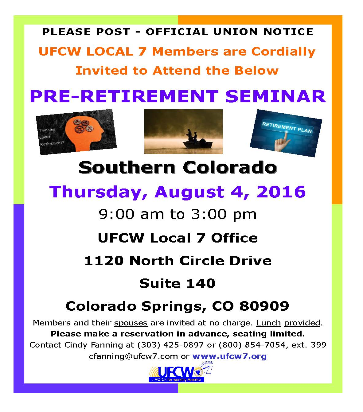 Pre-Retirement Seminar – Southern Colorado