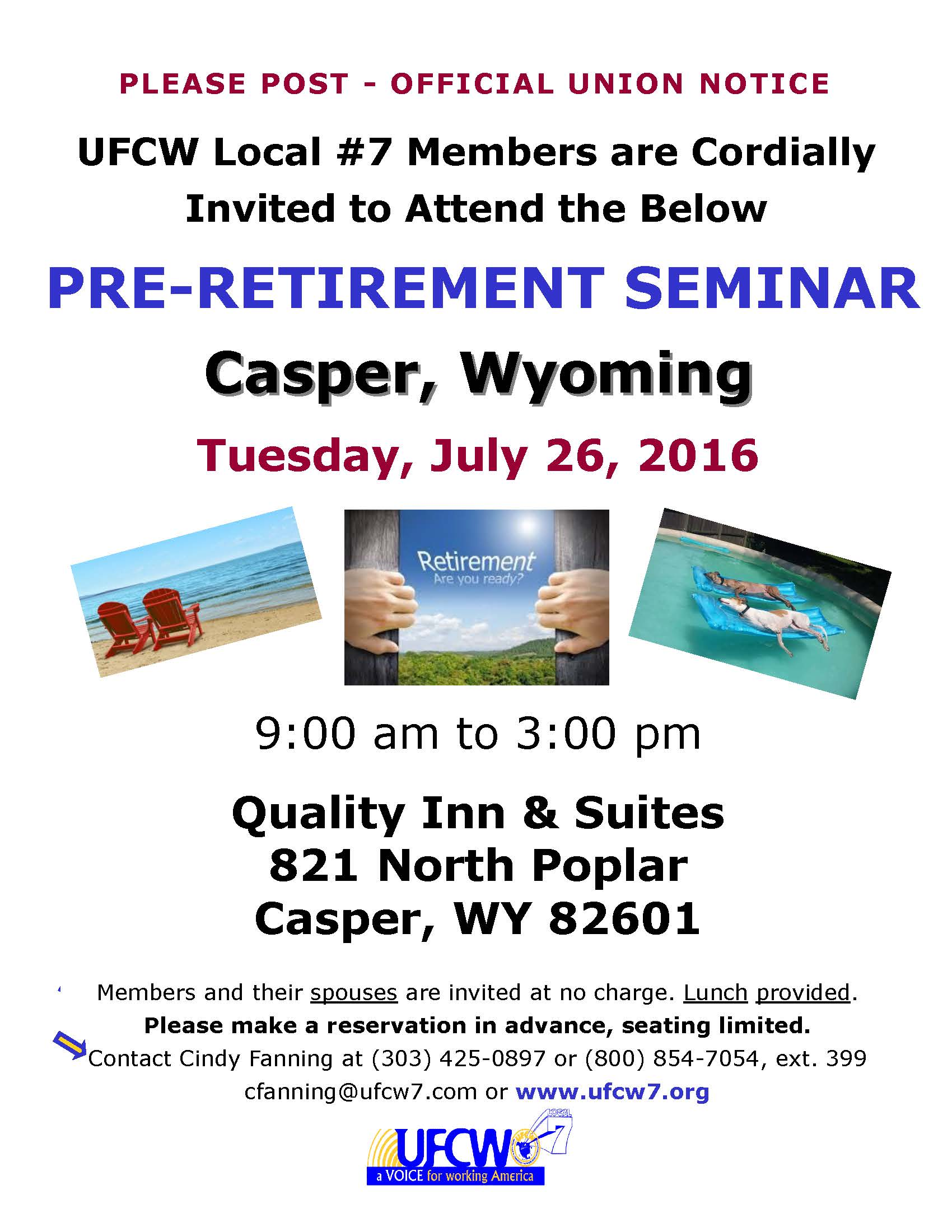 Pre-Retirement Seminar – Casper, Wyoming