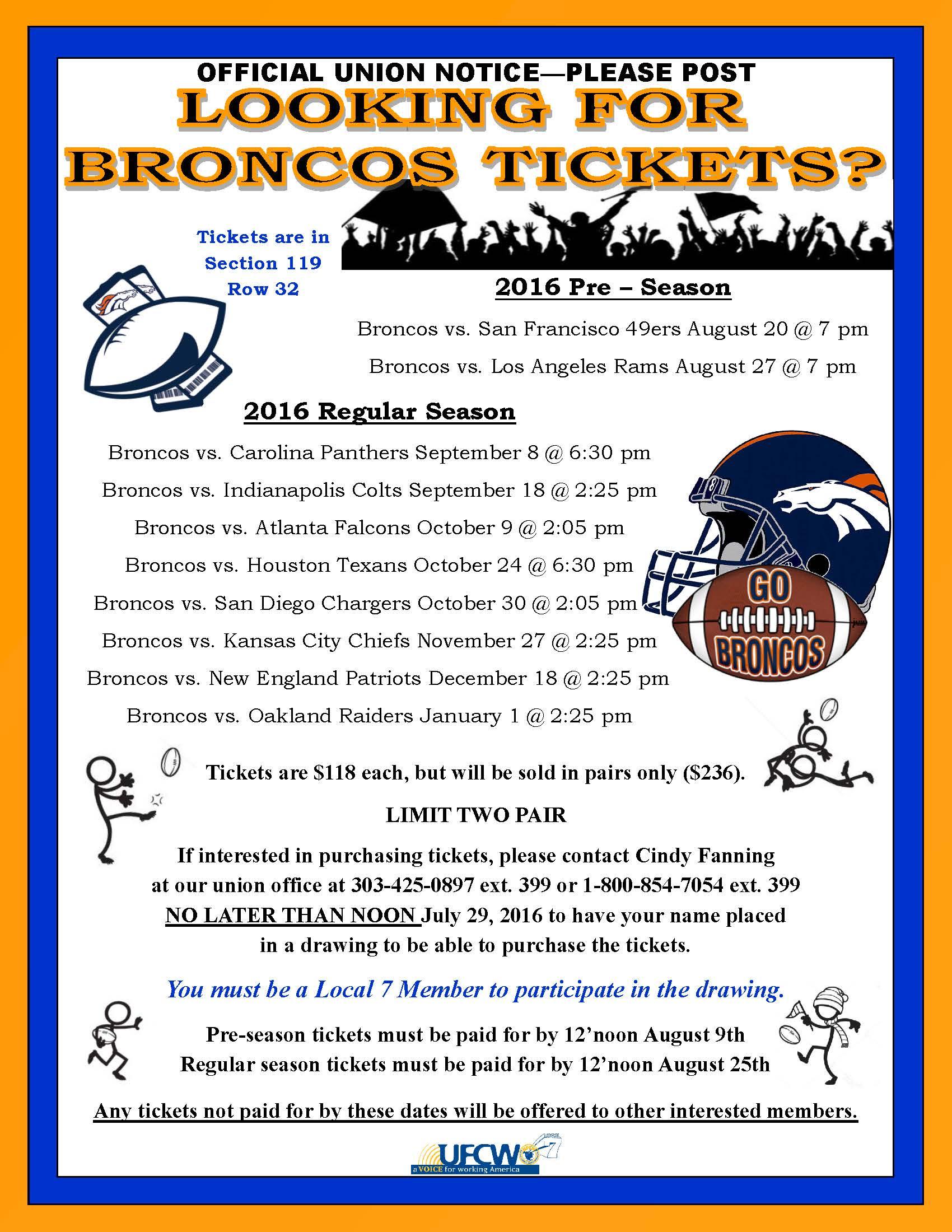 Broncos Tickets