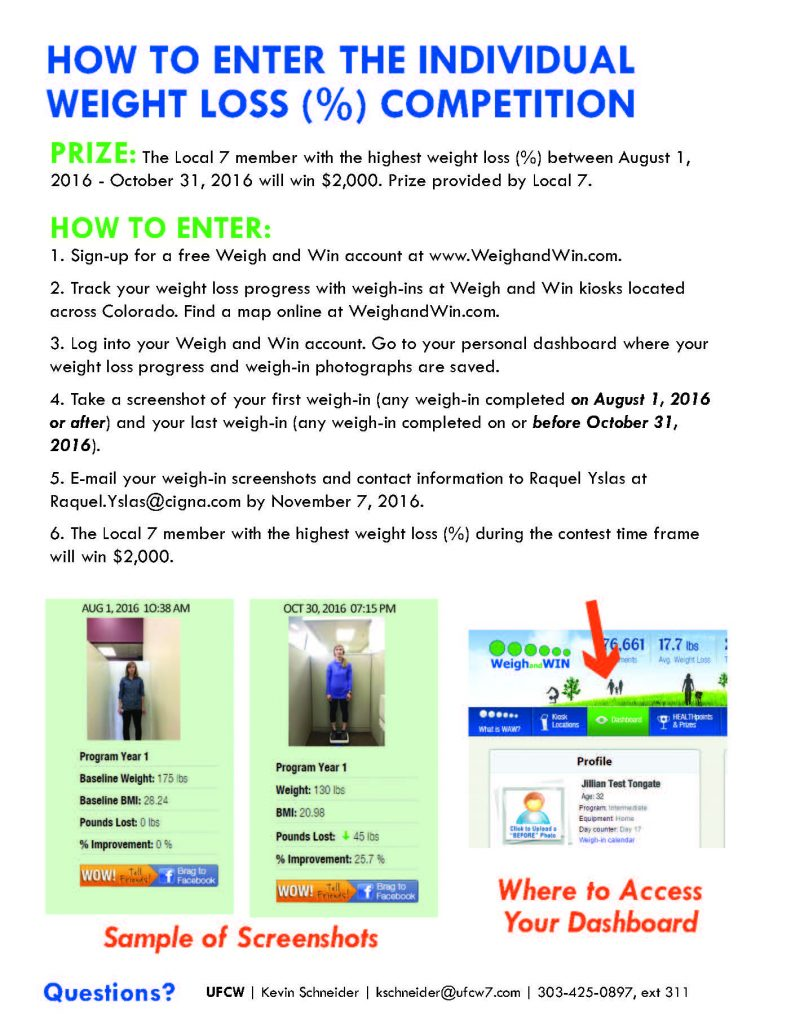 Join the Weigh and Win Individual & Team Challenge!