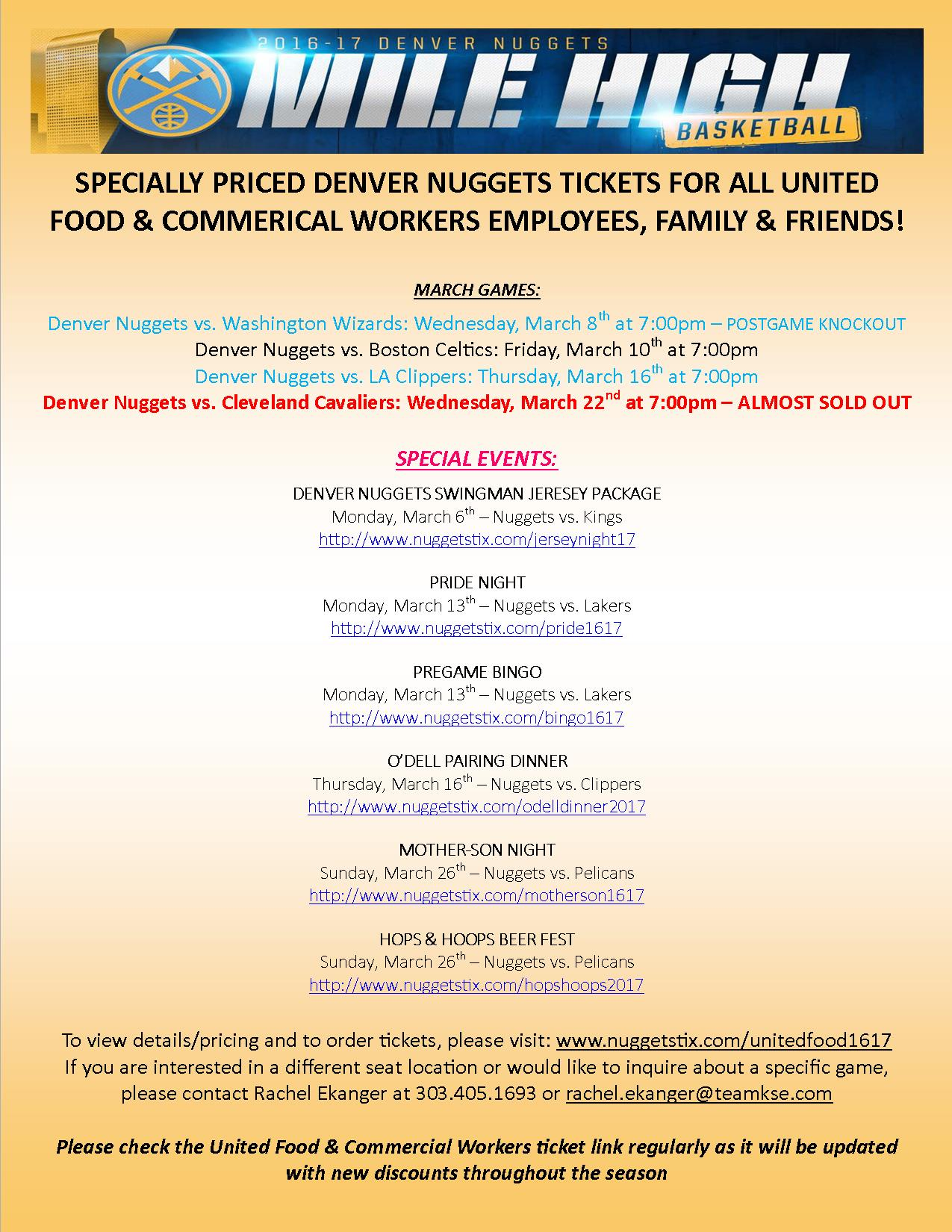 Denver Nuggets – Discounted Tickets