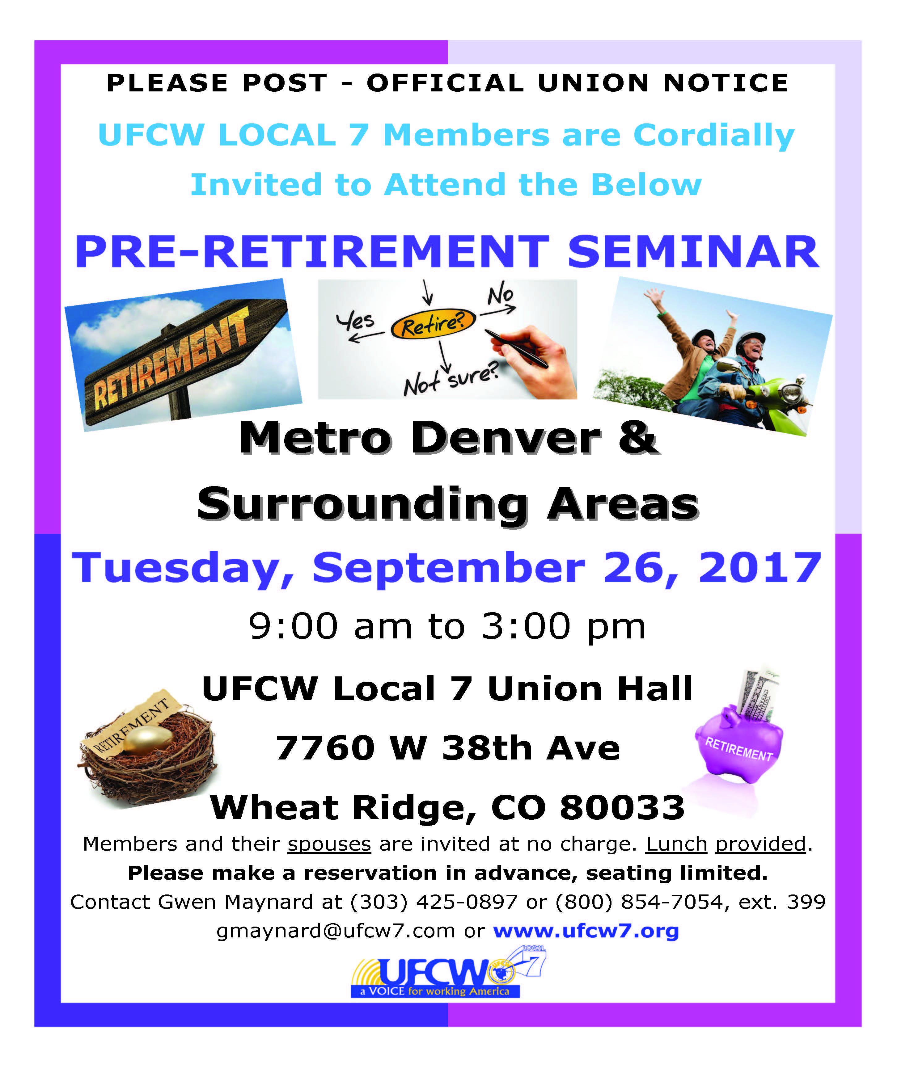 Metro Denver Pre-Retirement Seminar