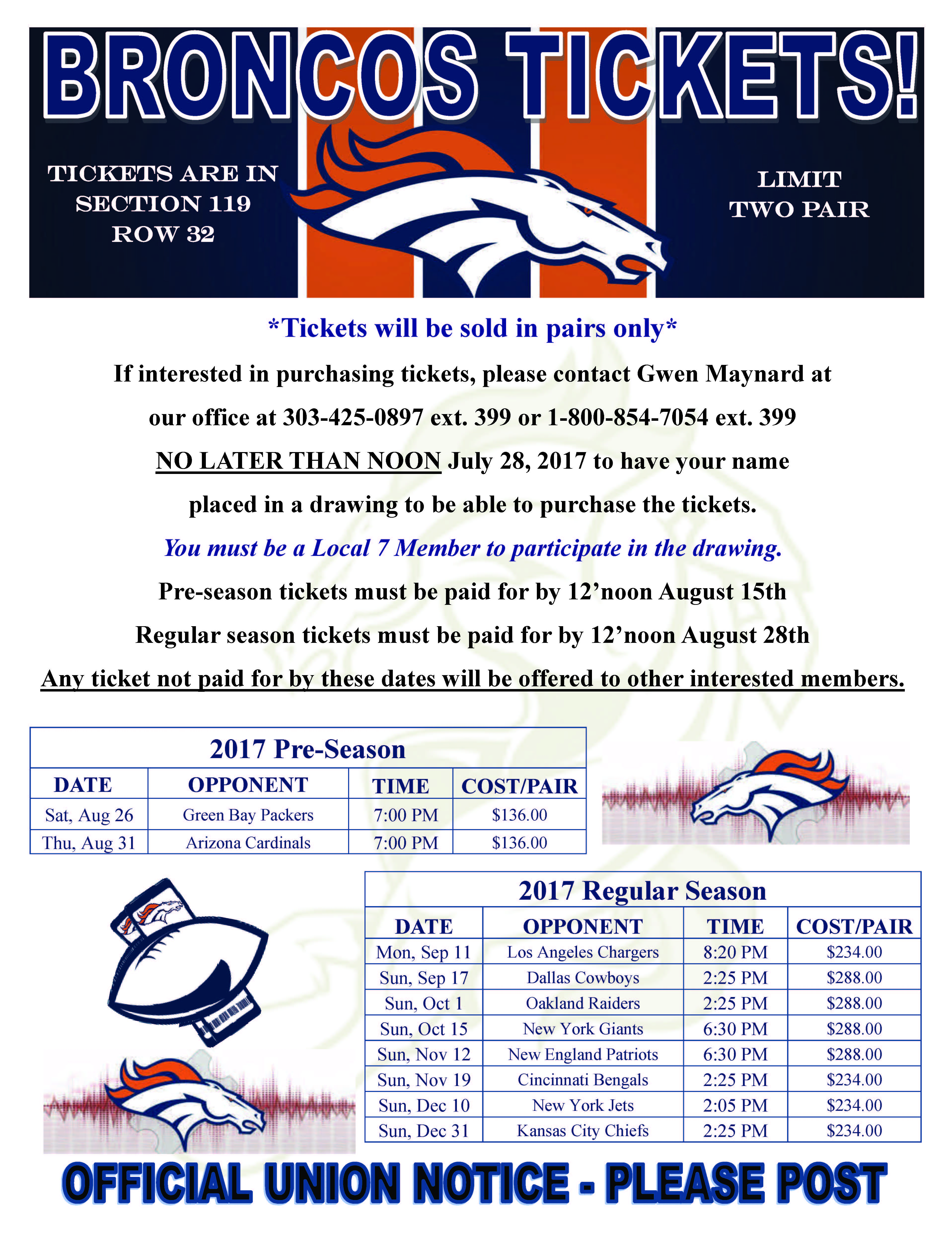 Looking for Broncos Tickets?