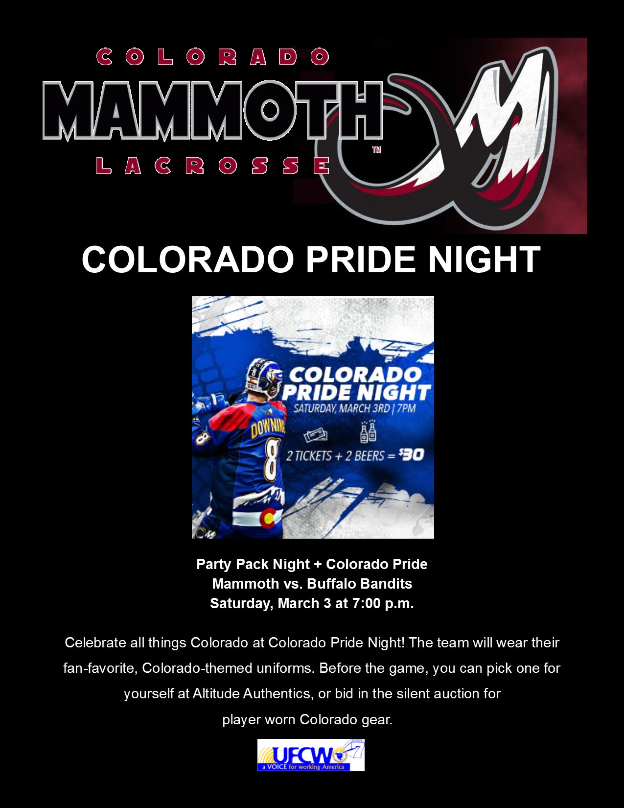 Colorado Mammoth – Party Pack Night!