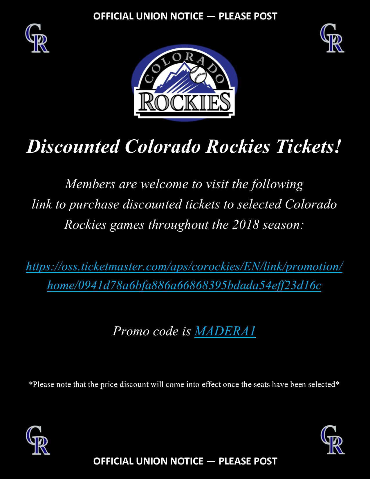 Discounted Colorado Rockies Tickets
