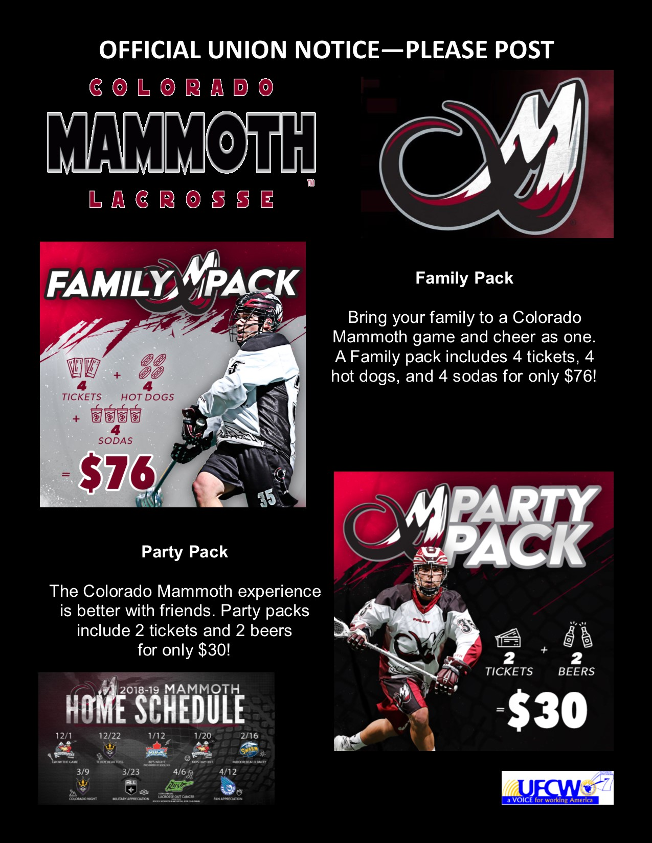 Colorado Mammoth Lacrosse Tickets!