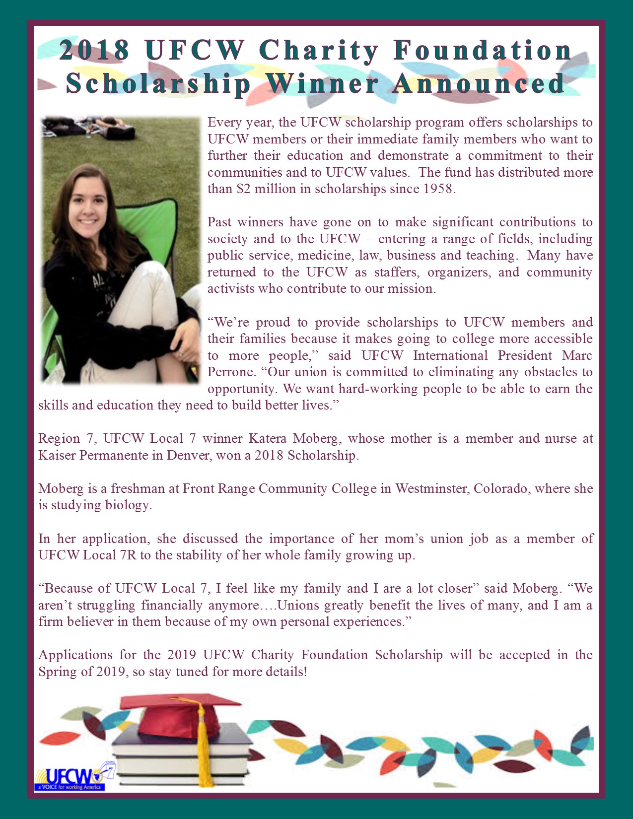 UFCW Charity Foundation Scholarship Winner