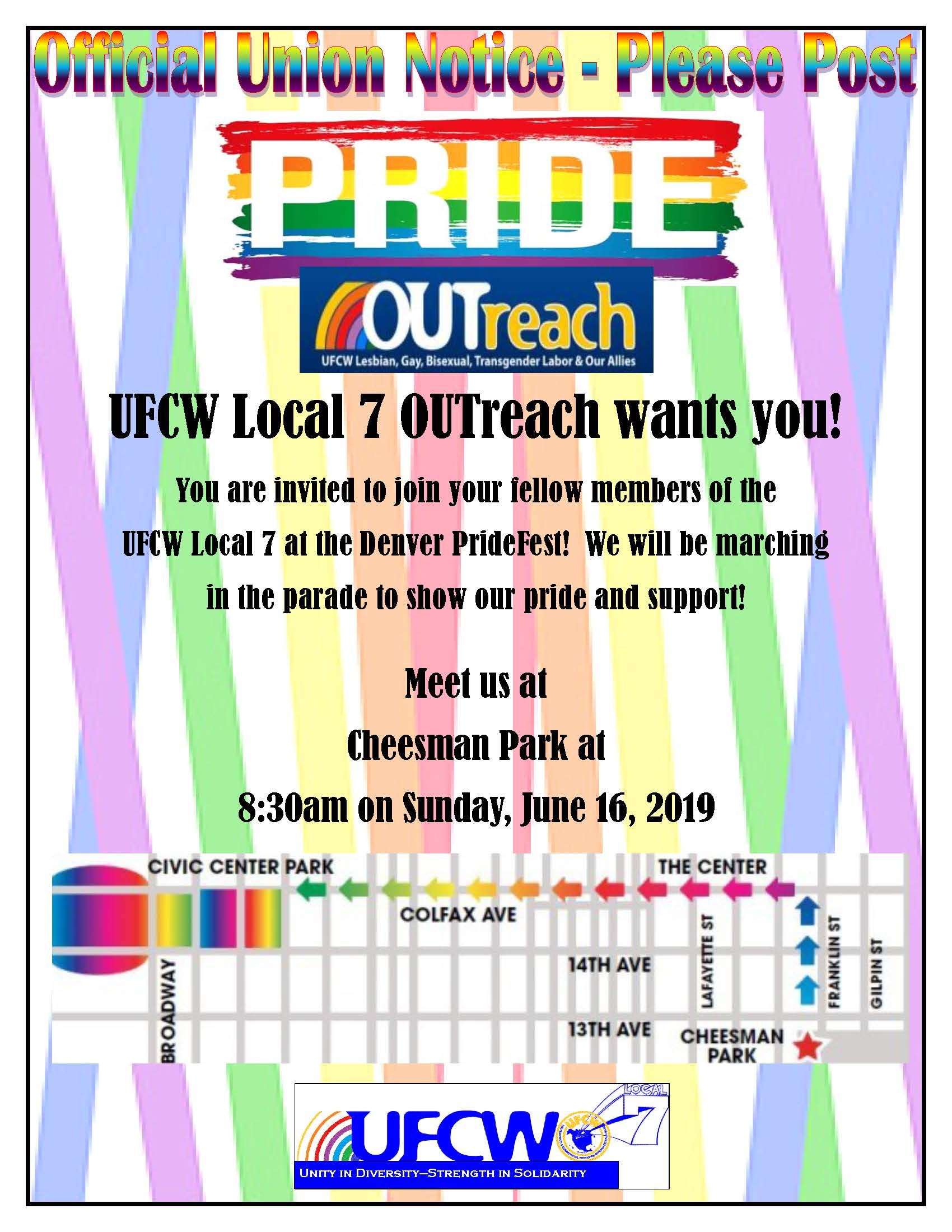 OUTreach: Join Us At The Pride Parade!