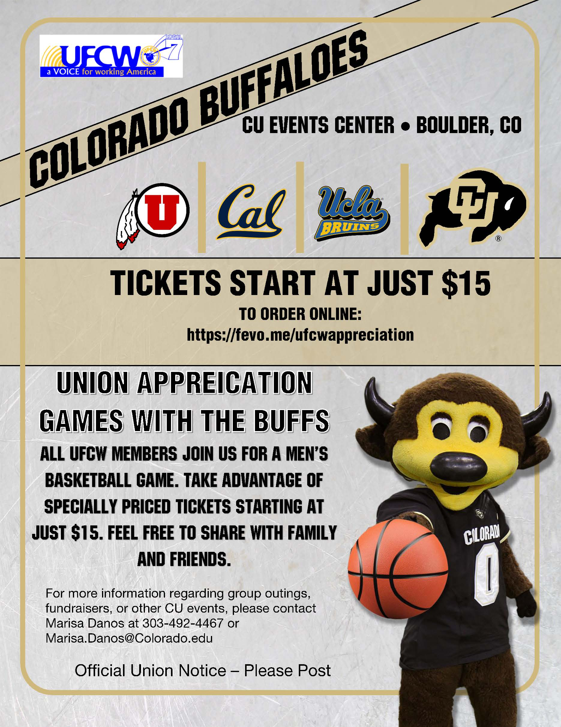 Union Appreciation With The CU Buffs!
