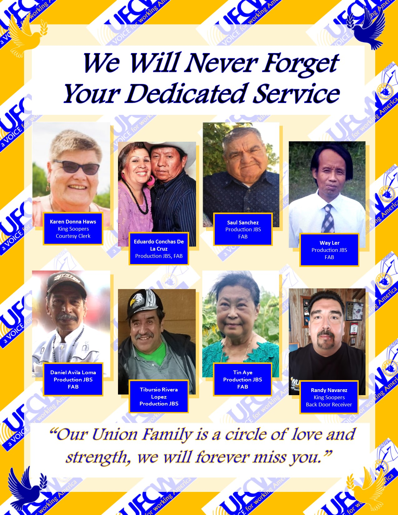 Tribute to UFCW Local 7 Heroes