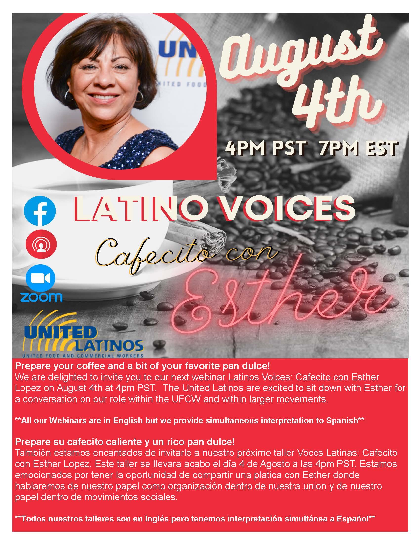 Latino Voices: Cafecito Con Esther