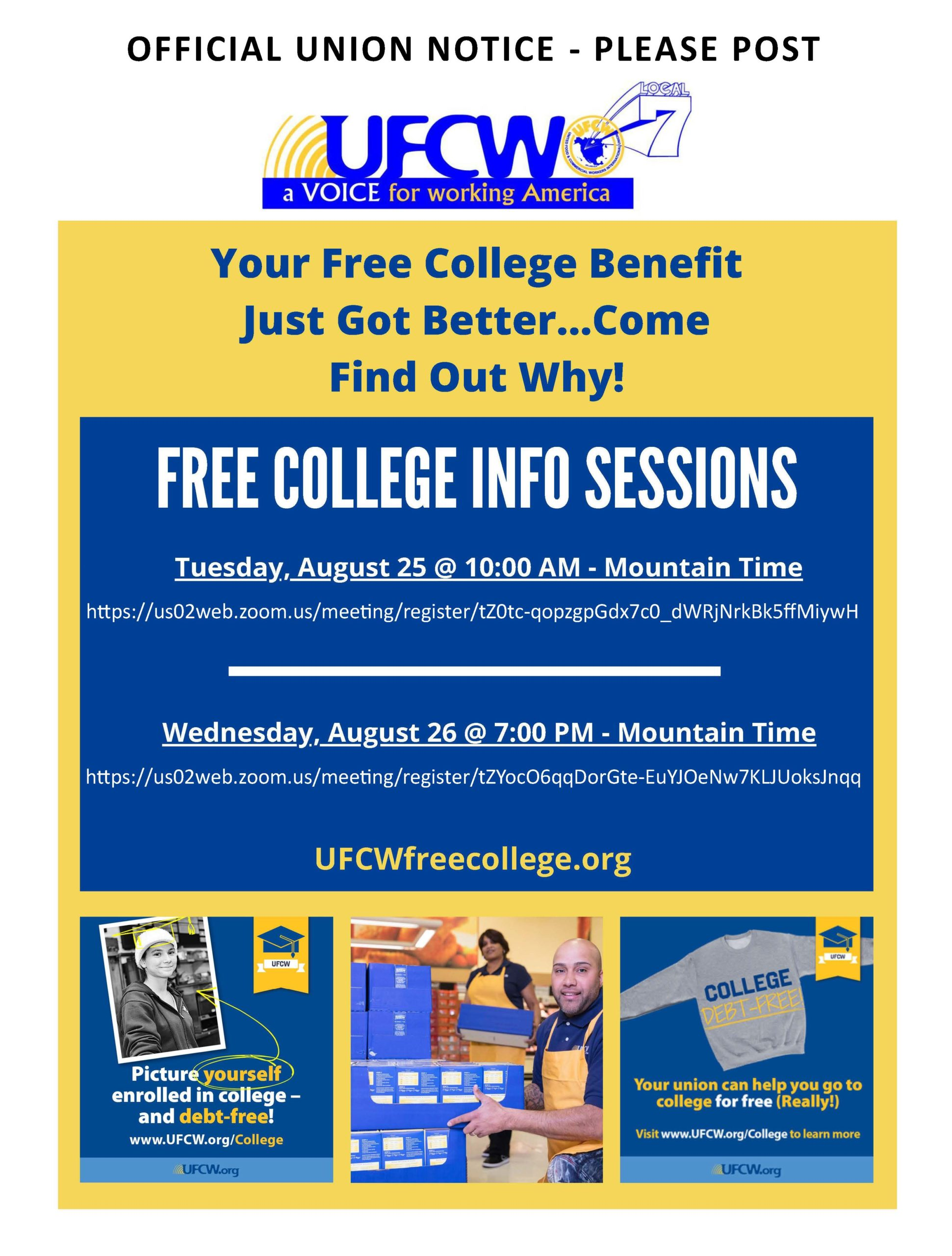 Free College Info Sessions!