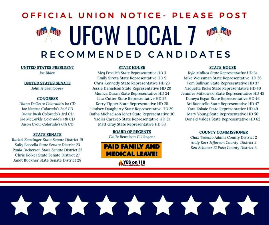 UFCW Local 7 Endorsed Candidates