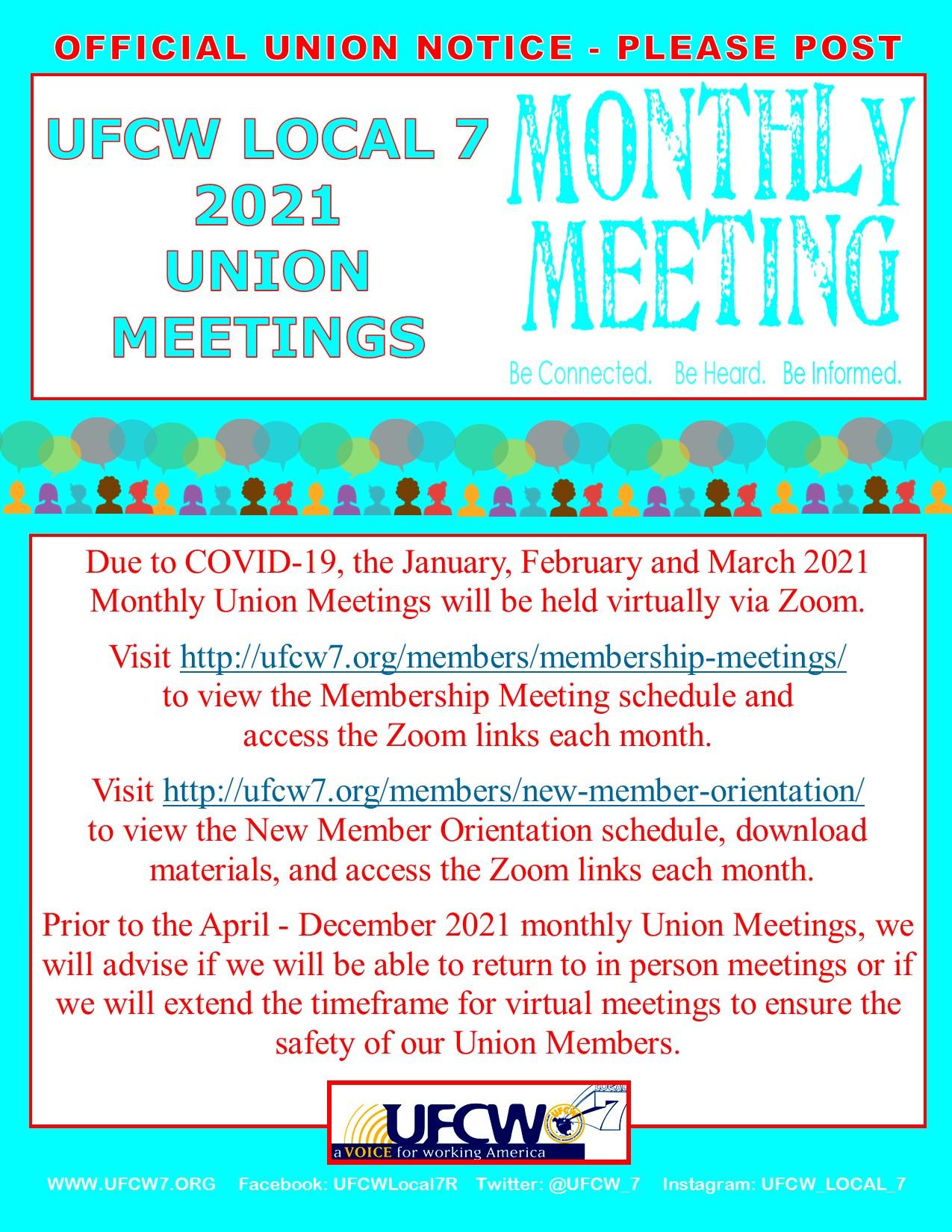 2021 Union Meetings